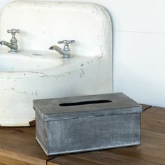 Galvanized Tissue Box Cover
