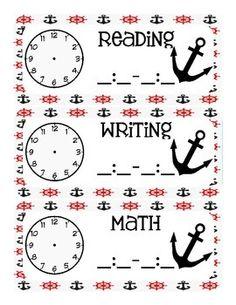 Pirate Themed Classroom Schedule Classroom Design, Future Classroom, Classroom Themes, Classroom Organization, Classroom Management, Classroom Table Signs, Classroom Schedule, Teach Like A Pirate, Class Decoration