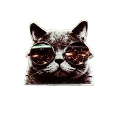 Broche Chat lunette GALAXY