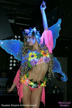 LED Flower Fairy with LED Fairy WINGS sexy costume for stage performance go go dance dress-up theme party Halloween Rave Costumes, Festival Costumes, Festival Outfits, Party Costumes, Costume Ideas, Flower Costume, Rave Gear, Edm Outfits, Carnival