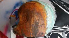 Oryginal helmet. Hand painting and preparate. #13vespa #customlook #bobbers #cafferacer