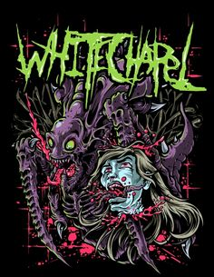 a Project for Metal Band, Whitechapel Power Metal, Band Wallpapers, Live Wallpapers, Thrash Metal, Arte Horror, Horror Art, Whitechapel Band, Heavy Metal Art, Bright Art