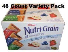 Kelloggs Nutri Grain Bars Variety Pack of 48 Bars *** Click image for more details.