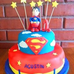 #SuperMan #baby #fondant #cake by Volován Productos  #instacake #Chile #puq #VolovanProductos #Cakes #Cakestagram #sweetcake