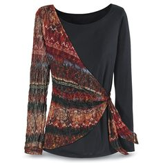 """Sash Shoulder Top - Needs to be brown instead of black, but I love this! (Not my """"true colors."""" Nice, but not perfect.)"""