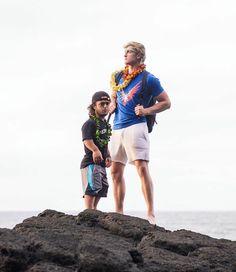 Logan and Evan in Hawaii<3