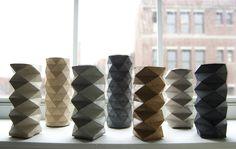 Rumigami - Concrete candle holders by 2ELVE and Spacio Terreno