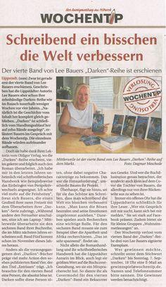 Das möchten wir noch sehr gerne nachreichen: Ein schöner Artikel über unsere Autorin Lee Bauers ist am 03.09.2014 zu DARKEN IV im Wochentip erschienen..