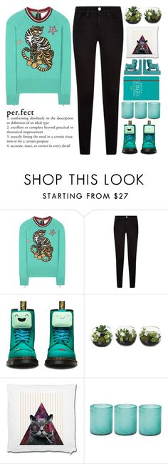 """Winter holidays are the best, because how else the whole family will be gathering"" by holly-k15 ❤ liked on Polyvore featuring Gucci, Dr. Martens, Jamie Young and Happy Jackson"
