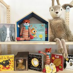 Pebble Fox Rattle Spotted in this delightful display by @itsybitsybums!  Fall is in the air (or at least somewhere on the horizon after today's extra-warm day).  #ibbrecs #kansascity #instore #online #fall #autumn #baby #toddler ( # @itsybitsybums via @latermedia )