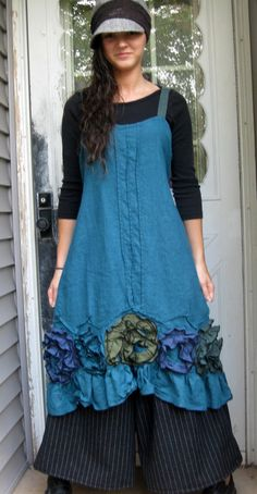 Flouncy Swirl Dress by sarahclemensclothing on Etsy
