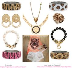 """""""Wild Child"""" -Get ready for a Wild Summer with these amazing animal inspired Jewelry pieces available Now at my online Boutique """"Tropical Goddess""""! And don't forget to add me on FB to keep up with the latest Trends and Sales! - https://www.facebook.com/miami.tropicalgoddess"""