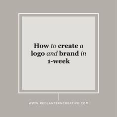 Yes, you can create a logo and brand in 1-week. I'll show you how BUT,  there's a lot of prep work before the design process begins. Read on to see  how I create a logo and brand for my clients in 1-week.