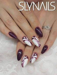 Purple Nails, Red Nails, Hair And Nails, Nagellack Design, Gel Nail Art Designs, Almond Acrylic Nails, Latest Nail Art, Girls Nails, Pretty Nail Art