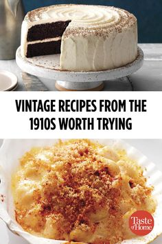 Vintage Recipes from the Worth Trying Today The featured Babe Ruth's Major League debut and some delicious recipes. Get a taste of America's pastime with these vintage recipes. Retro Recipes, Top Recipes, Cookbook Recipes, Baking Recipes, Dessert Recipes, Cake Recipes, 1950s Recipes, Recipies, Baking Desserts