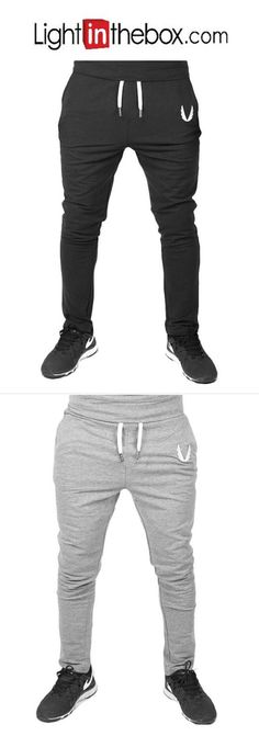 Men's Medium Waist Micro-elastic Skinny Harem Active Sweatpants Pants