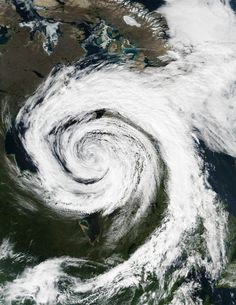 Extratropical Cyclone Over Hudson Bay