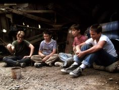 STAND BY ME, Corey Feldman, Jerry O'Connell, Wil Wheaton, River Phoenix, 1986 | Essential Film Stars, River Phoenix http://gay-themed-films.com/river-phoenix/