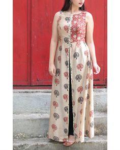 Shop Beige tree of life tunic Dress Indian Style, Indian Dresses, Indian Outfits, Indian Wear, Indian Fashion Designers, Indian Designer Wear, Modest Fashion, Fashion Dresses, Salwar Pattern
