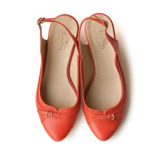 New PumpkinRed Jemma Shoes Leather handmade shoes por LieblingShoes