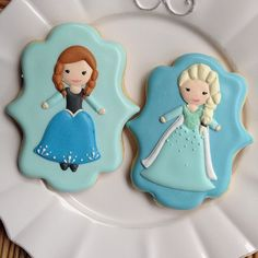 galletas decoradas de princesas frozen - Buscar con Google