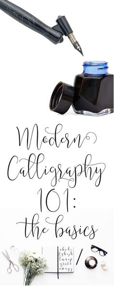 Modern Calligraphy 101: The Basic Supplies you'll need to get started with practicing + free practice sheets! | dawnnicoledesigns.com - hand lettering