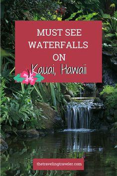 Kauai, the northernmost major Hawaiian island is nicknamed the Garden Island. With plenty of rainfall, the island is lush, green, and home to some beautiful waterfalls! Kauai Waterfalls, Kauai Vacation, Dream Vacations, Vacation Spots, Kauai Hawaii, Hawaii Life, Maui, Hawaii Travel Guide, Travel Nursing
