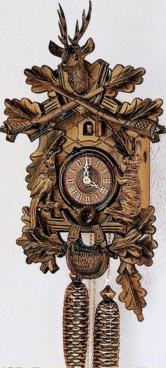 8 Day Live Animal Traditional Hunters Cuckoo Clock Anton Schneider The Eighth Grandfather