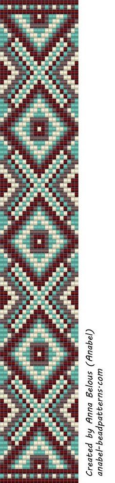beading scheme weaving beads anabel loom beaded pattern - maybe square stitch? Seed Bead Patterns, Peyote Patterns, Weaving Patterns, Snake Patterns, Bead Loom Bracelets, Beaded Bracelet Patterns, Jewelry Patterns, Motifs Perler, Tapestry Crochet