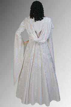 Crushed Velvet Dress HD White
