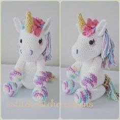 Unicorn stuffed animal crochet pattern
