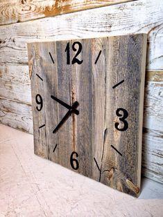 Reclaimed Barn Wood Clock Large Rustic Wall Clock Rustic Wall Decor Handcrafted Wooden Clock Clock Rustic Home Decor Rustic Wood Decor, Rustic Walls, Rustic Barn, Reclaimed Wood Shelves, Reclaimed Barn Wood, Unique Wall Clocks, Wood Clocks, Large Rustic Wall Clock, Huge Clock