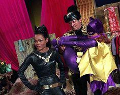 BATMAN 60's TV Show Eartha Kitt & Yvonne Craig BATGIRL Tied Up 8X10 PHOTO #1376