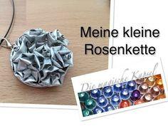 ▶ Nespresso Kapsel Schmuck Anleitung - meine kleine Rosenkette - die magische (Kaffee)-Kapsel - YouTube