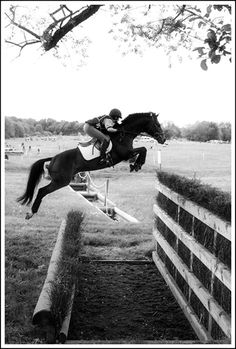 And people say riding a horse is not a sport! LOVE cross country