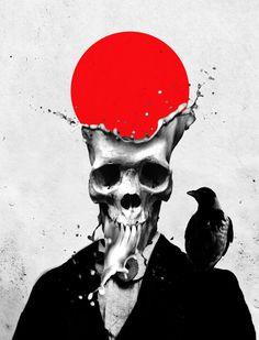 Curioos.com | Splash Skull by Ali Gulec (Turkey) - http://pinterest.com/curioos