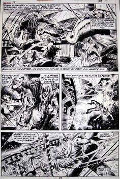 Man-Thing #13, p.27 Comic Art