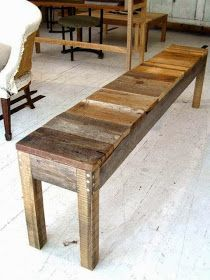 Pallet Projects : Pallet Project - Pallet Bench. Could be good plant table behind couch More