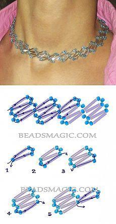 El modelo gratuito para los abalorios el collar De de concurso azul | los Collares la Magia