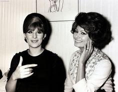 Barbra Streisand  and Sophia Loren