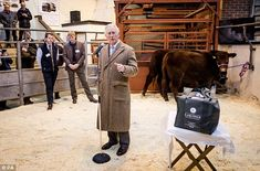 He delivered a short speech as he openedThe Prince's Farm Resilience Programme...