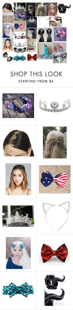 """Hair Stuff 6"" by spellcasters ❤ liked on Polyvore featuring Child Of Wild, AURA Headpieces and Wet Seal"