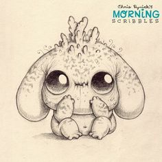 Floopy-eared Sproutbugger.  #morningscribbles