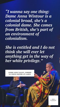 Vogue Editor In Chief, White Privilege, Fair Trade Fashion, Anna Wintour, Warrior Princess, Great Words, Green Fashion, Ethical Fashion, Fashion Bloggers