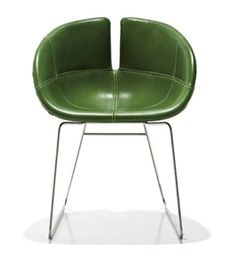 """""""Fjord"""" Green chair by Patricia Urquiola for Moroso"""