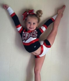 baby cheerleader. I can't even do that