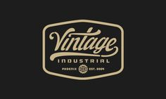 Vintage Industrial on Behance