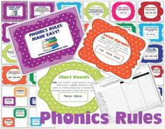 The Lesson Plan Diva: Phonics Rules Made Easy and a FREEBIE!