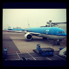 KLM plane in Amsterdam airport.