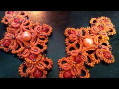 Royal Kit (Tatting,Frivolité, Orecchini, Фриволите,Encaje, 梭織) FREE PATTERN - YouTube